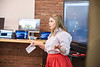 Shayla Klein, a Journalism major presents for her group during the Video Game Competition during WVU Demo Day at Evansdale Crossing  April, 25th 2019.  Photo Brian Persinger