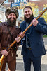 Trevor Kiess, Outgoing Mountaineer hands off the rifle to  Timothy Eads, Incoming Mountaineer at the Erickson Alumni Center April 11, 2019. Photo Greg Ellis