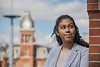 Critical Language Scholar Taima Ross poses for photographs at the Mountainlair, April 1st, 2019.  Photo Brian Persinger