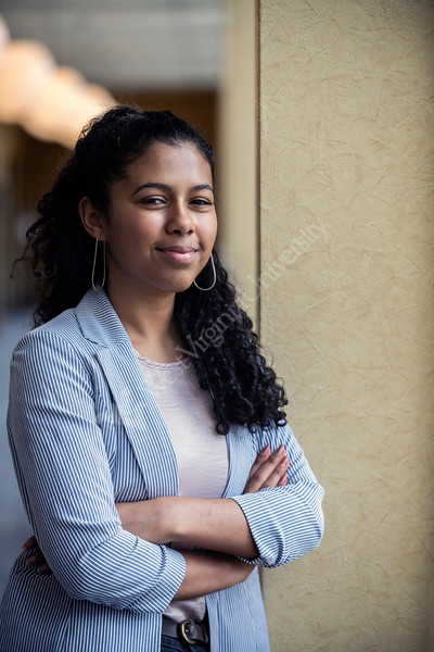 Critical Language Scholars Taima Ross poses for photographs at the Mountainlair, April 1st, 2019.  Photo Brian Persinger