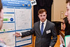 Nathan Musser, an undergraduate student of the Statler College of Engineering and Mineral Resources presents his research at the Undergraduate students present their research at the Spring Research Symposium held in the Mountainlair Ballroom on April 13, 2019.