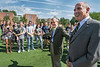 32406MGE S00002.jpg L to R E Gordon Gee, Governor Bob Wise, ( 2001-2005) President Alliance for Excellent Education. Addressing Promise Scholarship students, staff, factuality, and house members Mnt Lair Plaza Morgantown WV 08/23/2016