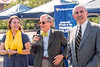 L to R, Samantha Shimer, Wirt County, WVU Sr. International Relations, E Gordon Gee, Governor Bob Wise, ( 2001-2005) President Alliance for Excellent Education. Addressing Promise Scholarship students, staff, factuality, and house members Mnt Lair Plaza Morgantown WV 08/23/2016