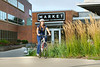 Megan Walker 4th year dental student is seen with her bike on the  HSC campus August 28, 2017. Photo Greg Ellis