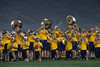 The Pride of West Virginia Marching Band plays their famous pregame show or the class of 2021 during Monday Night Lights August 14, 2017 on the field of Milan Puskar Stadium.