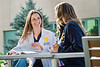 Megan Walker 4th year dental student is seen with her fellow 4th year dental student Elyse Reihner on the  HSC campus August 28, 2017. Photo Greg Ellis