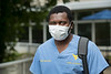 WVU Dentistry student Elvis Tanyi-Arrey Morgantown WV. walks home after classes at the WVU HSC campus reflecting on the day and the challenges of classes during the Covid-19 pandemic August 27, 2020. (WVU Photo/Greg Ellis)