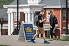 WVU Freshmen students physical distance as students return to the WVU Campus for the first day of classes during the Covid-19 pandemic August 26, 2020. (WVU Photo/Greg Ellis)