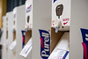Purell hand sanitization stations are staged in the Mountainlair August 25th, 2020.  (WVU Photo/Brian Persinger)