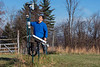 Brenden McNeil Assistant Professor of Geography at West Virginia University inspects the weather station used to gather atmospheric data, used in his Drought Study research. December 17, 2018. Photo Greg Ellis