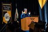 Jack Furst, a distinguished private equity investor and adjunct professor at The University of North Texas address WVU graduates at the 2018 Eberly College of Arts and Science and the John Chambers College of Business and Economics December 2018 Commencement at the WVU Coliseum , December 12, 2018. Photo Greg Ellis