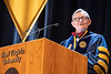 WVU President Gordon Gee addresses those in attendence at December Commencement in the Coliseum December 15th, 2018.  Photo Brian Persinger