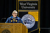 President Gordon Gee addresses graduates during the Eberly College of Arts and Sciences and the College of Business and Economics December Commencement in the Coliseum December 15th, 2017.  Photo Brian Persinger
