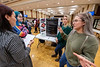 Judges listen to participants during theThe Center for Women's Studies and Genders Poster Showcase in the Mountainlair December 10th, 2019.  (WVU Photo/Brian Persinger)