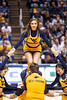 Cheerleader performs during the game. The WVU Men's Basketball team took on Rhode Island at the Coliseum December 1, 2019. (WVU Photo/Parker Sheppard)