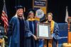 Patrice Harris, MD is presented her Honorary Doctoral Degree at the December 2019 Commencement in the Coliseum December 21st, 2019.  (WVU Photo/Brian Persinger)