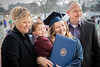 WVU graduate Alexandra Shears poses for a picture with her son Liam and parents at the WVU December Commencement December 21, 2109 (WVU Photo/Greg Ellis)