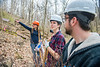 Assistant Professor Vaike Haas, lead designer/planner for the Davis College School of Design and Agriculture and her students perform maintenance and plant on the Falling Run trails of the downtown campus February 23rd, 2017.