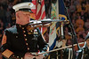 33116, Violinist, Master Gunnery Sgt. Peter Wilson  performs United States National Anthem at the WVU Coliseum,