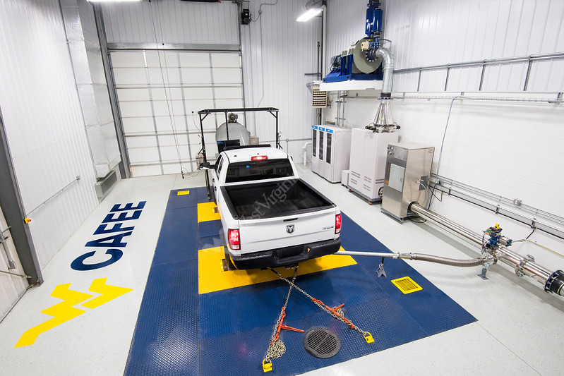 33087, WVU CAFE Vehicle Engine Testing Lab (VETL) performs emissions testing at the laboratory located in Morgantown, WV.
