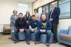 Veteran Students at the Evansdale Library enjoy the newly dedicated study room on February 29, 2019.