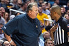 WVU Men's Basketball coach Bob Huggins confronts an official during WVU Men's Basketball action vs  Iowa State Febuary 5, 2020. (WVU Photo/Greg Ellis)
