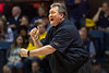 WVU Men's Basketball coach Bob Huggins reacts to a call during WVU Men's Basketball action vs  Iowa State Febuary 5, 2020. (WVU Photo/Greg Ellis)