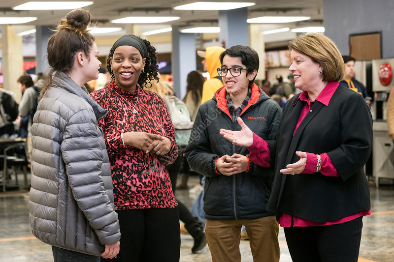 West Virginia Highschool students tour the Mountain Lair with advisers from the CLASS (Center for Learning, Advising and Student Success ) Student Center, this is the first academic home for some students whose degree programs don't have direct admission to their major.  January 24, 2018. Photo Greg Ellis