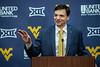 The WVU Football team holds a press conference announcing the hiring of new head coach Neal Brown at the Puskcar Center January 10th, 2019.  Photo Brian Persinger