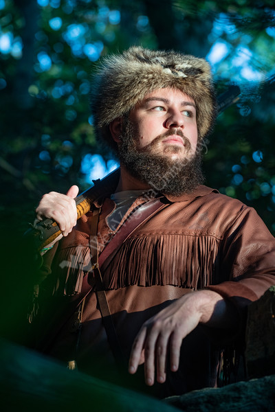 2019-2020 Alternate Mountaineer Thaiddeus Dillie  poses for photographs at Coopers Rock July 24th, 2019.  Photo Brian Persinger