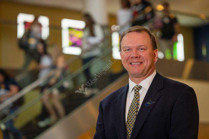 Aaron M. Ostrowski Clinical Assistant Professor, Nurse Director Anesthesia Program poses for photos on the WVU HSC campus. July 25, 2018. Photo Greg Ellis