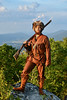 WVU Mountaineer Mascot 67, Colson Glover a native of Lewisburg poses for photos at surrounding locations near his hometown, July 21, 2020. (WVU Photo/Greg Ellis)