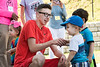 West Virginia high school students participate  in the Health Sciences and Technology Academy HSTA Summer camp, interacting with daycare tots at the Rosenbaum Family House July 26, 2017. Photo Greg Ellis