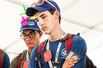 Images of WVU administration, factuality, staff and students participating at the national Scout jamboree with scouts and support personnel at the Summit Bechtel Family National Scout Reserv ...