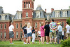Megan Buchheit leads a group on a tour of campus on June 27, 2019. Photo Parker Sheppard