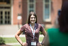 Ronee Nottingham has her picture taken outside of Woodburn Hall at NSO on June 28, 2019. Photo Parker Sheppard