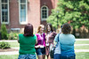 Ronee Nottingham and Sharina Ratliff have their picture taken outside of Woodburn Hall at NSO on June 28, 2019. Photo Parker Sheppard
