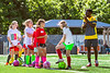 Aspiring female soccer players participate in the women's World Cup soccer camp working with coaches,  part of the WVU summer camps program June 9, 2017 2017. Photo Greg Ellis