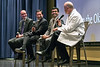 Members of the WVU BOG participate in  learning sessions at the WVU Health Science Center and  the J.W. Ruby Memorial Hospital , June 15,  2017. The BOG members were informed by  L to R  Albert L. Wright Jr., president & CEO, WVU Medicine Vinay Badhwar, MD, executive chair, WVU Heart and Vascular Institute Partho Sengupta, MD, director, cardiovascular imaging, WVU Heart and Vascular Institute Clay B. Marsh, MD, vice president and executive dean for health sciences, WVU Photo Greg Ellis