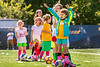 Aspiring female soccer players participate in the women's World Cup soccer camp,  part of the WVU summer camps program June 9, 2017 2017. Photo Greg Ellis