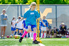 Aspiring female soccer player Madelyn Fritsch  participates in the women's World Cup soccer camp,  part of the WVU summer camps program June 9, 2017 2017. Photo Greg Ellis