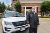 WVU Police Chief of 25 years Bob Roberts, 2018 Chief of the Year named by the National Association of Campus Safety Administrators poses in front of the WVU Erickson Alumni Center prior to his retirement ceremony Jun 27, 2018. Photo Greg Ellis