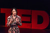 Shan Cawley, a full-time English student at WVU, speaks about her traumatic childhood experiences and how she has been effected by it at the second annual TEDx Talk at the Davis Theatre on March 2, 2019.