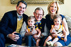 29361S013XX - President E. Gordon Gee with his family -- son-in-law David Patrón, daughter Dr. Rebekah Gee, and twins Eva, on Gee's lap, and Elizabeth.