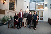 (L2R) Carla Brigandi, Christian Schaupp, Steven Frisch, Andrea Soccorsi and Johanna Winant pose for photographs at the Wise Library on the Downtown Campus March 9th, 2020.  All are 2020-2021 Honors College Faculty Fellows.  (WVU Photo/Brian Persinger)