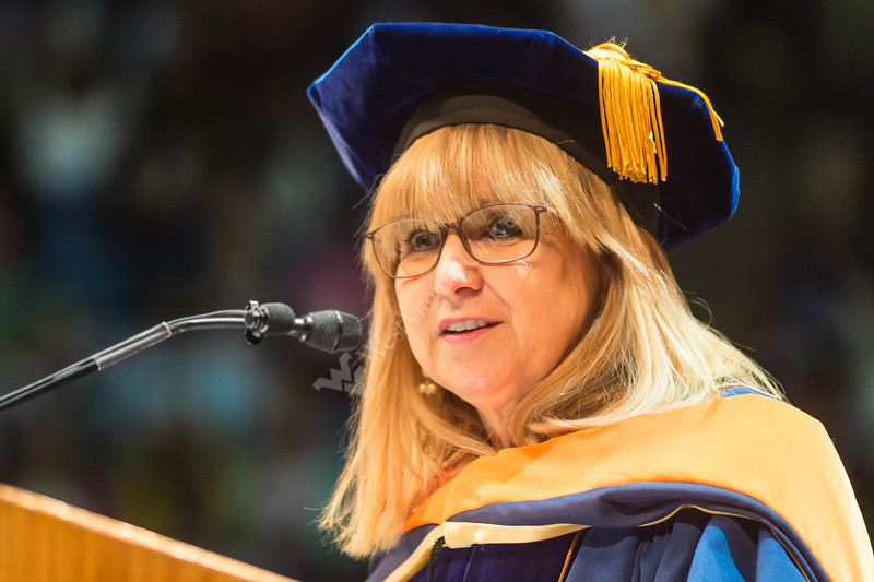 Sharon Flanery was awarded an HDOC at the Statler College of Engineering commencement ceremony. The ceremony was held at the Coliseum on May 5, 2019. The students received their diplomas and greeted their families outside afterward.