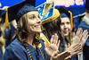 Haley Bittinger and others cheer as their graduation ceremony comes to an end. Eligible students of CEHS attended their commencement ceremony at the Coliseum on May 11, 2019.