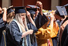 Graduates move their tassles at the end of the School of Public Health Commencement at the CAC May 10th, 2019.  Photo Brian Persinger