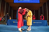 Former Honors College Dean and current Davis College of Agriculture, Natural Resources and Design Dean Ken Blemings recognizes his daughter, Elizabeth Blemings as she crosses the stage during the Honors College Medallion Ceremony at the CAC April 9th, 2019.  Photo Brian Persinger