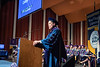 Honorary Doctoral Degree recipeint Robert Fitzsimmons addresses the crowd during the College of Law Commencement at the Creative Arts Center May 10th, 2019.  Photo Brian Persinger
